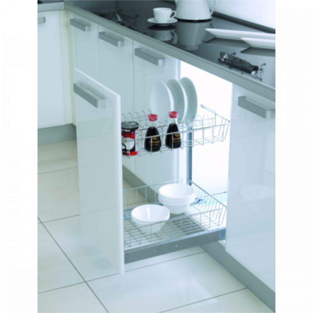 Under-Workbench Unit with Plate-Glass Division 50cm (Soft Closing)